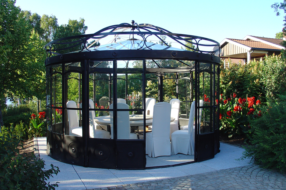 Gazebo Ferro E Vetro.Gazebo Garden House Lazzerini