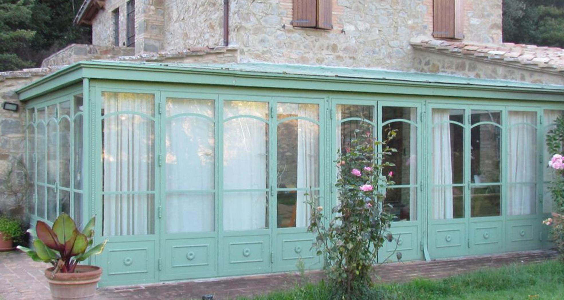 veranda in ferro e legno : verande in ferro Garden House Lazzerini
